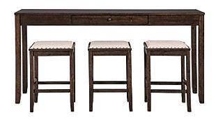 Rokane Counter Height Dining Table and Bar Stools (Set of 4), , large