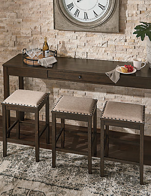 Rokane Counter Height Dining Room Table and Bar Stools (Set of 4), , large