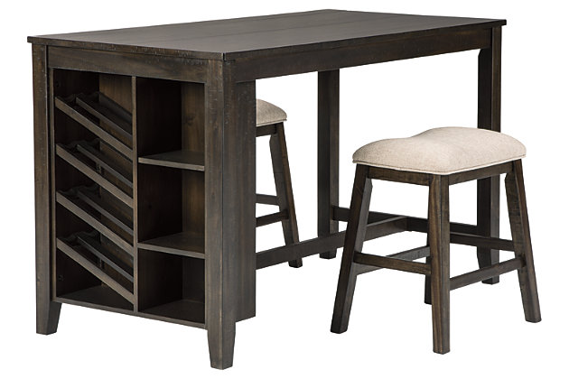 Rokane Counter Height Dining Table and 2 Barstools, , large