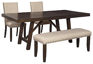 Rokane Dining Table and 2 Chairs and Bench, , large