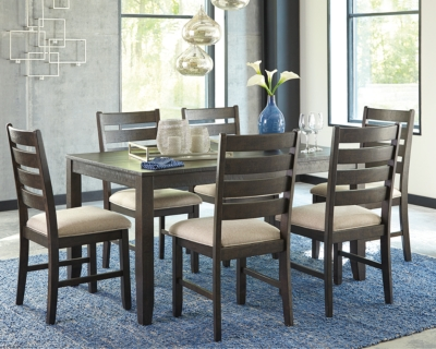 Rokane Dining Room Table and Chairs (Set of 7) by Ashley ...