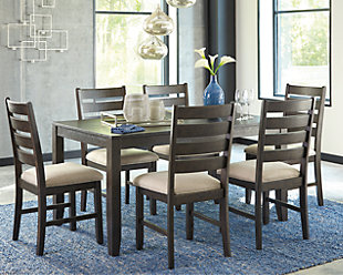 Large Rokane Dining Room Table And Chairs Set Of 7 Rollover