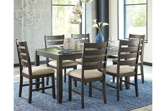 rokane dining room table and chairs (set of 7) | ashley furniture Dining Room Table and Chairs