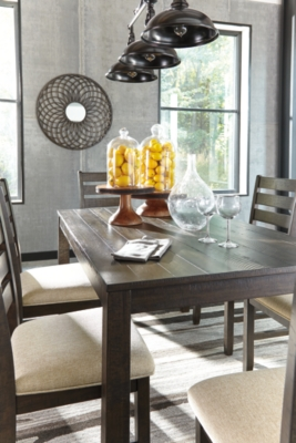 Rokane Dining Room Table and Chairs Set of 7 Ashley Furniture