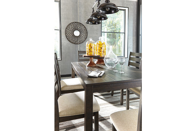 rokane dining room table and chairs (set of 7) | ashley furniture