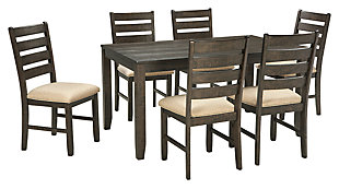 Rokane Dining Table and Chairs (Set of 7), , large