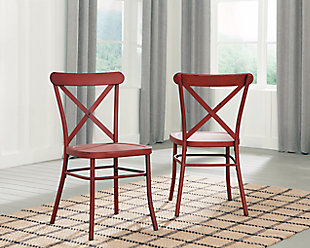 Minnona Dining Room Chair, Red, rollover