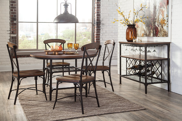kitchen table and chairs with wine rack dining room server - Dining Room Server Furniture