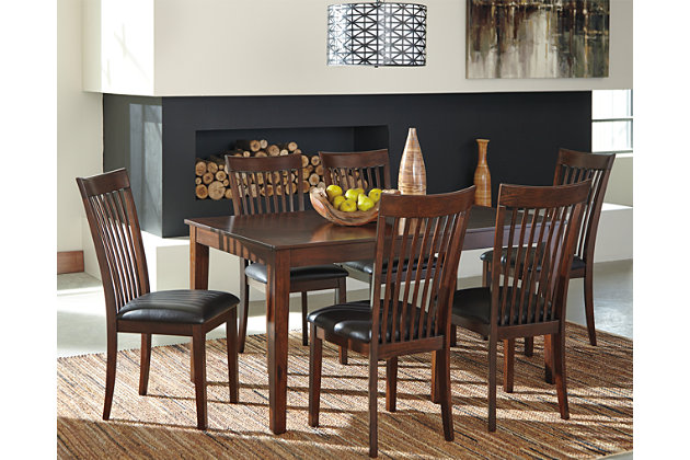 Medium Brown Mallenton Dining Room Table And Chairs (Set Of 7) View 1 Part 34