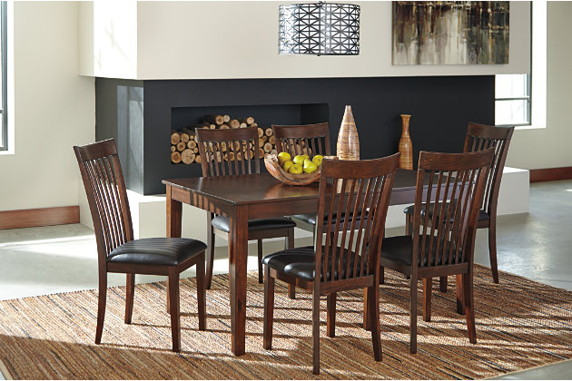 mallenton dining room table and chairs set of 7 ashley furniture