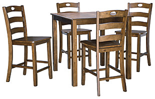 Hazelteen Counter Height Dining Table and Bar Stools (Set of 5), , large