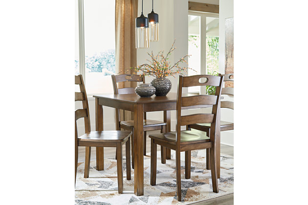 Hazelteen Dining Room Table and Chairs (Set of 5), , large