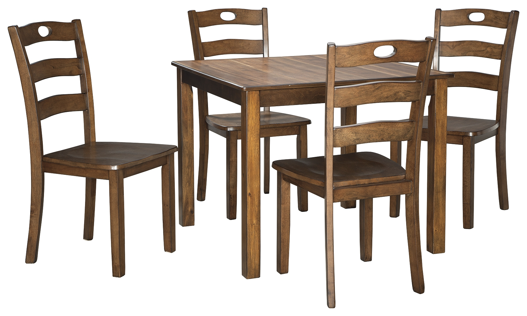 Hazelteen Square DRM Table and 4 Chairs