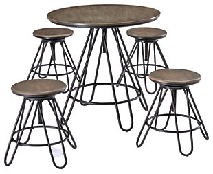 Sonilyn Counter Height Dining Room Table and Bar Stools (Set of 5), , large