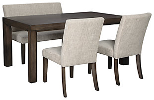 Deylin Dining Table and 2 Chairs and Bench, , large