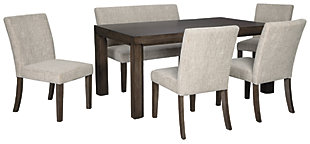 Deylin Dining Table and 4 Chairs and Bench, , large