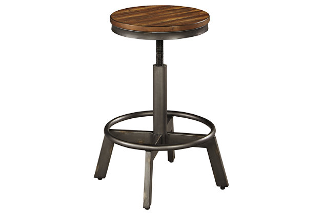 Torjin Adjustable Height Bar Stool, , large