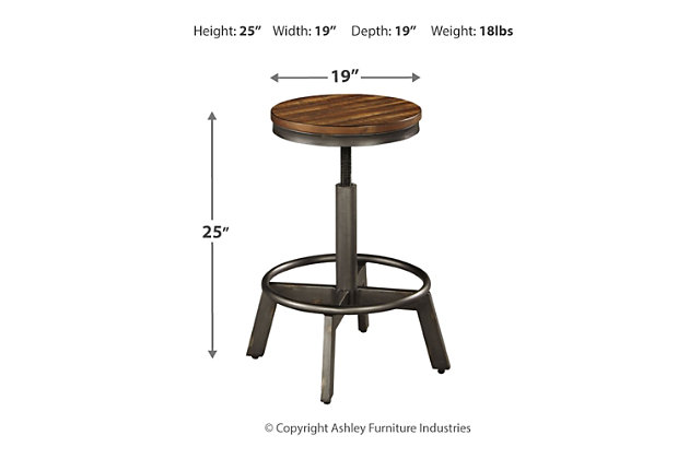 Torjin Counter Height Dining Table and 2 Barstools, , large