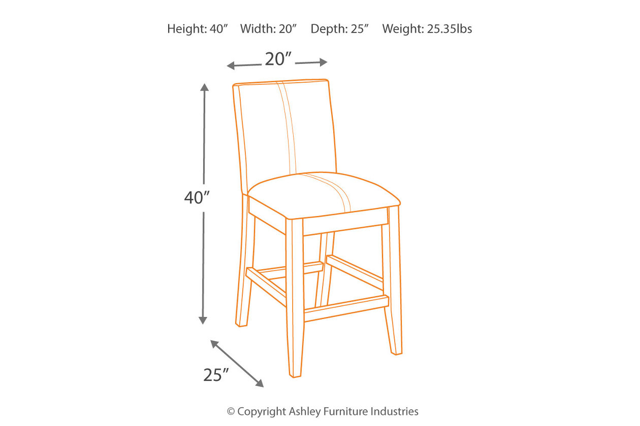 Swell Larchmont Counter Height Bar Stool Ashley Furniture Homestore Ncnpc Chair Design For Home Ncnpcorg