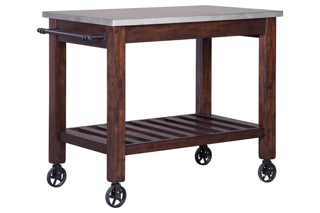Larchmont Kitchen Cart | Ashley Furniture HomeStore