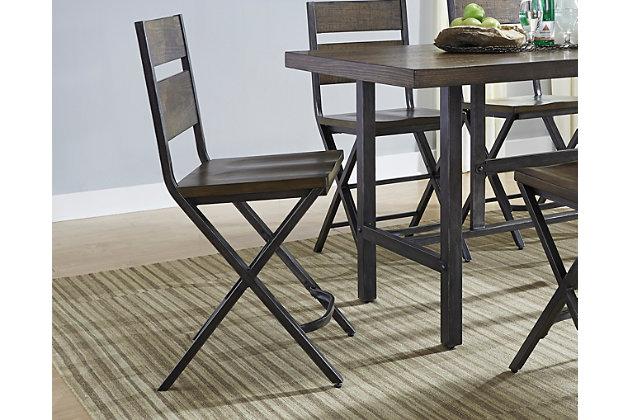 medium brown kavara counter height bar stool view 1