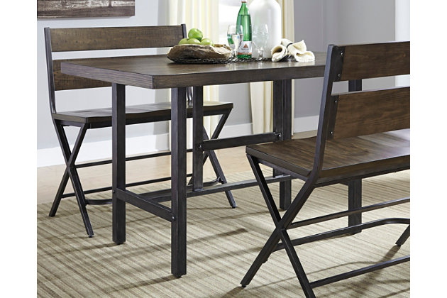 Charmant Kavara Counter Height Dining Room Table, , Large ...