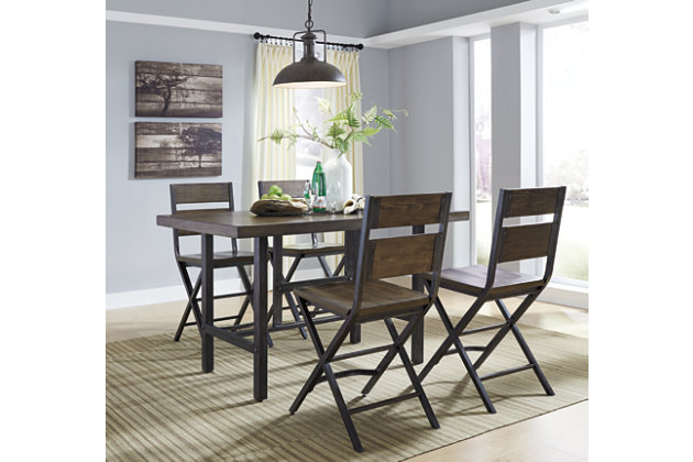 Kavara Counter Height Dining Table and 4 Barstools, , large
