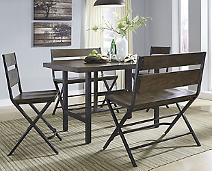 Kavara Counter Height Dining Table and 2 Barstools and 2 Benches, , rollover