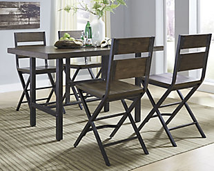 Kavara Counter Height Dining Table and 4 Barstools, , rollover