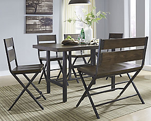 Kavara Counter Height Dining Table and 4 Barstools and Bench, , rollover