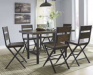 Kavara Counter Height Dining Table and 6 Barstools, , rollover