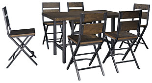 Kavara Counter Height Dining Table and 6 Barstools, , large