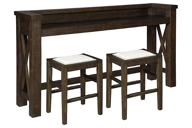 Hallishaw Counter Height Dining Table and 2 Barstools, , large