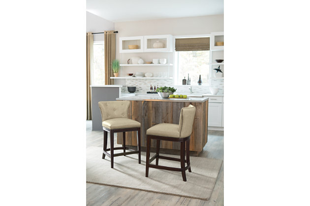 set of canidelli off white faux leather bar chairs beige canidelli counter height - Counter Height Chairs