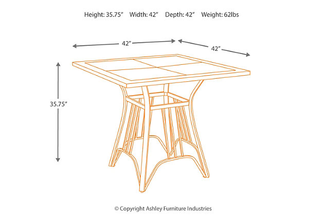 Zanilly Counter Height Dining Room Table | Ashley Furniture Homestore