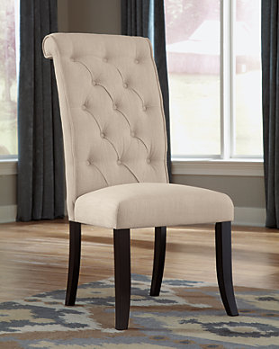 Tripton Dining Room Chair, Linen, rollover