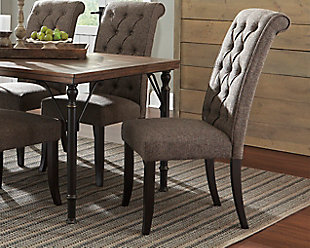 Merveilleux Tripton Dining Room Chair, Graphite, Large ...
