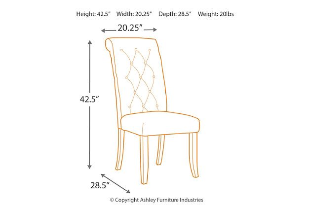 Tripton Dining Room Chair, Graphite, large