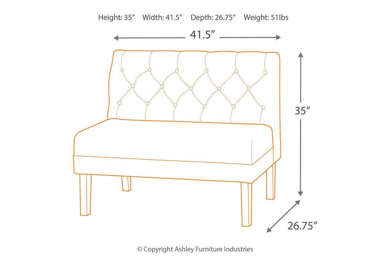 Astonishing Tripton Dining Room Bench Ashley Furniture Homestore Bralicious Painted Fabric Chair Ideas Braliciousco