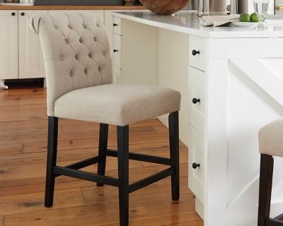 Tripton Counter Height Bar Stool, Linen, large