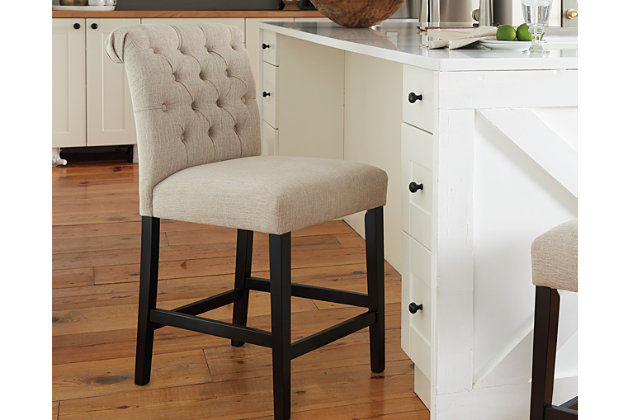 Tripton Counter Height Bar Stool Linen Large