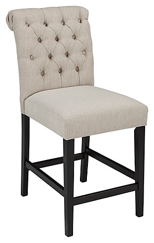 Tripton Counter Height Bar Stool, Linen, large