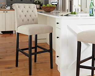 Tripton Bar Height Bar Stool, Linen, rollover