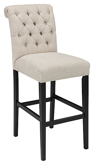 Tripton Bar Height Bar Stool, Linen, large