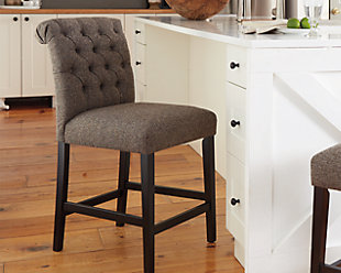 Tripton Counter Height Bar Stool, Graphite, rollover