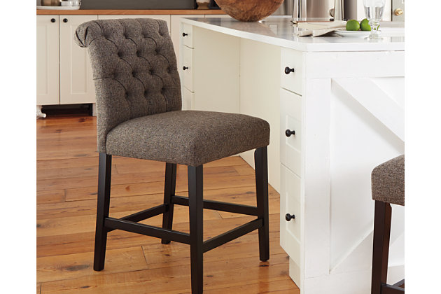 Tripton Counter Height Bar Stool, Graphite, large