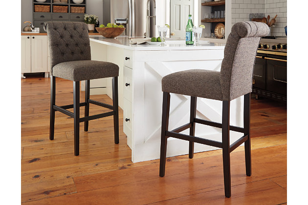 Tripton Bar Height Bar Stool, Graphite, large