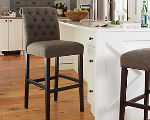 Tripton Bar Height Bar Stool, Graphite, rollover