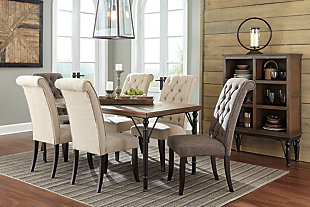 Tripton Dining Room Chair, Linen, large