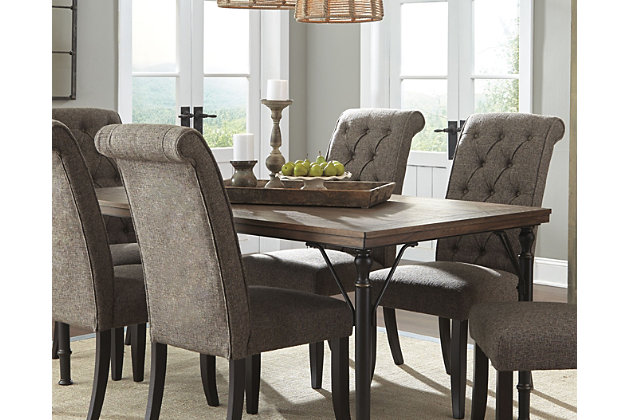 Medium Brown Tripton Dining Room Table View 1